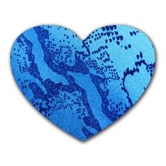 Background Tissu Fleur Bleu Heart Mousepads