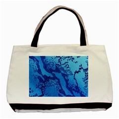 Background Tissu Fleur Bleu Basic Tote Bag (Two Sides)