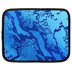 Background Tissu Fleur Bleu Netbook Case (Large)