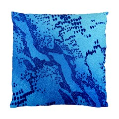 Background Tissu Fleur Bleu Standard Cushion Case (Two Sides)