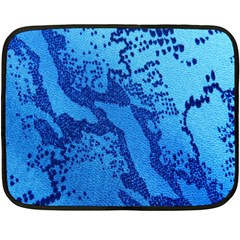Background Tissu Fleur Bleu Fleece Blanket (Mini)