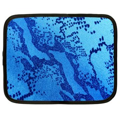 Background Tissu Fleur Bleu Netbook Case (XL)