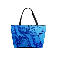 Background Tissu Fleur Bleu Shoulder Handbags