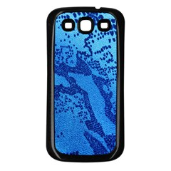Background Tissu Fleur Bleu Samsung Galaxy S3 Back Case (black)