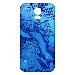 Background Tissu Fleur Bleu Samsung Galaxy S5 Back Case (white)