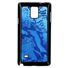 Background Tissu Fleur Bleu Samsung Galaxy Note 4 Case (black)