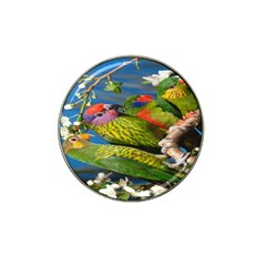 Beautifull Parrots Bird Hat Clip Ball Marker
