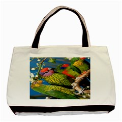 Beautifull Parrots Bird Basic Tote Bag (two Sides)