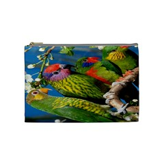 Beautifull Parrots Bird Cosmetic Bag (Medium)