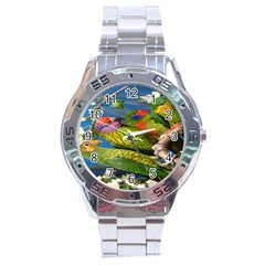 Beautifull Parrots Bird Stainless Steel Analogue Watch
