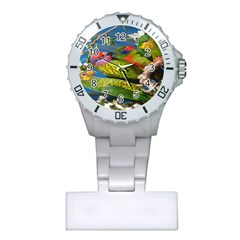 Beautifull Parrots Bird Plastic Nurses Watch