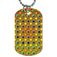 Background Tile Kaleidoscope Dog Tag (One Side)
