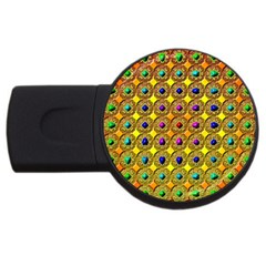 Background Tile Kaleidoscope Usb Flash Drive Round (2 Gb)