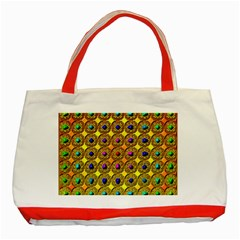 Background Tile Kaleidoscope Classic Tote Bag (red)