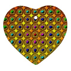 Background Tile Kaleidoscope Heart Ornament (Two Sides)