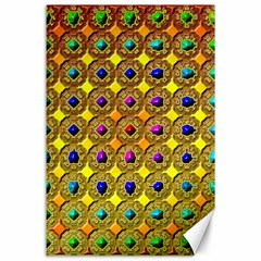 Background Tile Kaleidoscope Canvas 24  x 36