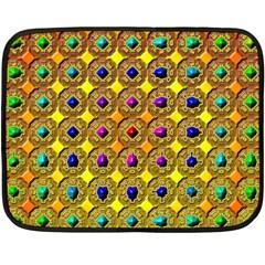 Background Tile Kaleidoscope Double Sided Fleece Blanket (mini)