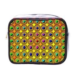Background Tile Kaleidoscope Mini Toiletries Bags