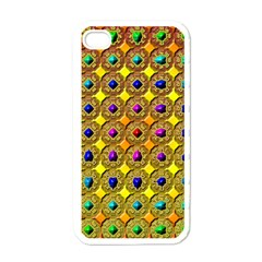 Background Tile Kaleidoscope Apple iPhone 4 Case (White)