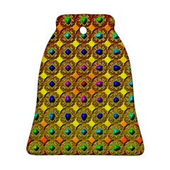 Background Tile Kaleidoscope Bell Ornament (Two Sides)