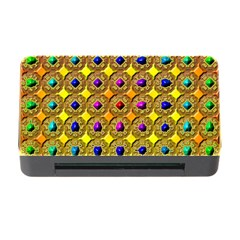 Background Tile Kaleidoscope Memory Card Reader With Cf