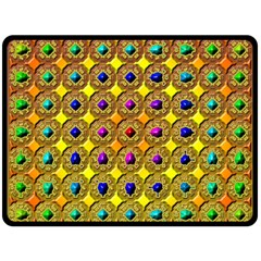 Background Tile Kaleidoscope Double Sided Fleece Blanket (Large)