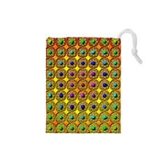 Background Tile Kaleidoscope Drawstring Pouches (Small)