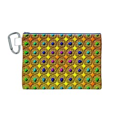 Background Tile Kaleidoscope Canvas Cosmetic Bag (m)