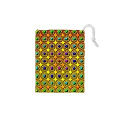 Background Tile Kaleidoscope Drawstring Pouches (XS)
