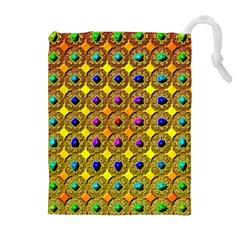 Background Tile Kaleidoscope Drawstring Pouches (Extra Large)