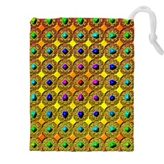 Background Tile Kaleidoscope Drawstring Pouches (XXL)