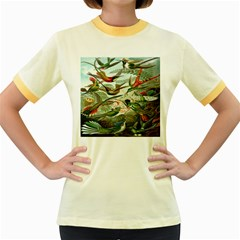 Beautiful Bird Women s Fitted Ringer T-Shirts
