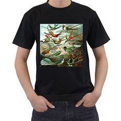 Beautiful Bird Men s T-Shirt (Black) (Two Sided)