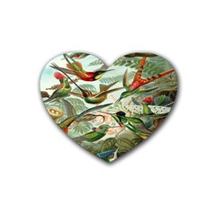 Beautiful Bird Rubber Coaster (Heart)