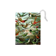 Beautiful Bird Drawstring Pouches (Small)