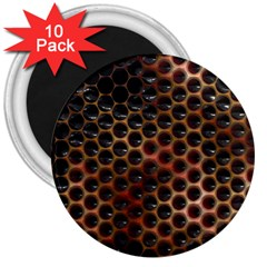 Beehive Pattern 3  Magnets (10 Pack)