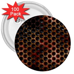 Beehive Pattern 3  Buttons (100 pack)
