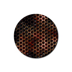 Beehive Pattern Rubber Round Coaster (4 pack)