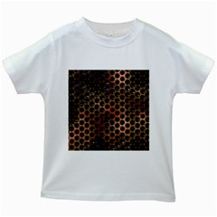 Beehive Pattern Kids White T-Shirts
