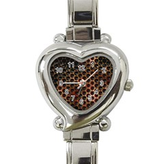 Beehive Pattern Heart Italian Charm Watch
