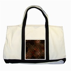 Beehive Pattern Two Tone Tote Bag