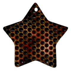 Beehive Pattern Star Ornament (Two Sides)