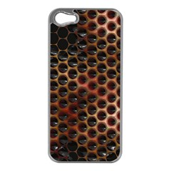Beehive Pattern Apple iPhone 5 Case (Silver)