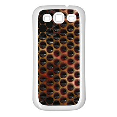 Beehive Pattern Samsung Galaxy S3 Back Case (white)
