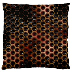 Beehive Pattern Large Flano Cushion Case (one Side)
