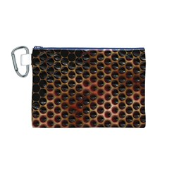Beehive Pattern Canvas Cosmetic Bag (m)