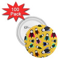 Bees Animal Pattern 1.75  Buttons (100 pack)