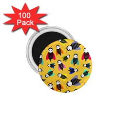 Bees Animal Pattern 1.75  Magnets (100 pack)