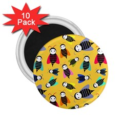 Bees Animal Pattern 2 25  Magnets (10 Pack)