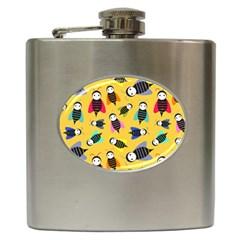 Bees Animal Pattern Hip Flask (6 oz)
